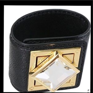 Michael Kors Leather Cuff Bracelet with Stone